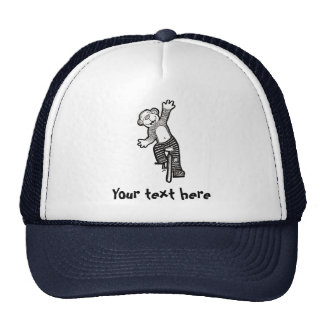 Colorable Unicycle Monkey Trucker Hat