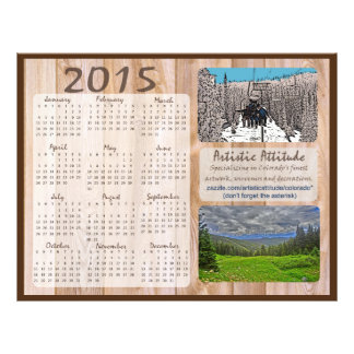 Colorado 2015 yearly zazzle promo calendar 21.5 cm x 28 cm flyer