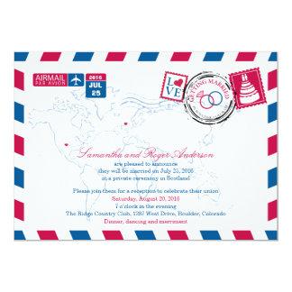 Colorado Air Mail Post Wedding Reception 13 Cm X 18 Cm Invitation Card
