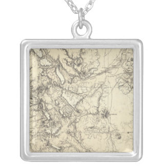 Colorado and New Mexico Silver Plated Necklace