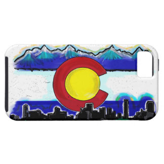 Colorado artistic skyline iphone 5 case