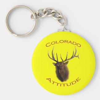 Colorado Attitude Basic Round Button Key Ring