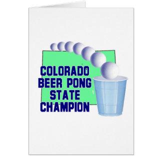 Colorado Beer Pong Champion Card