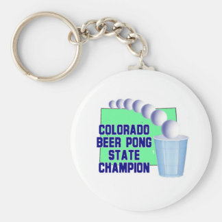 Colorado Beer Pong Champion Key Chains