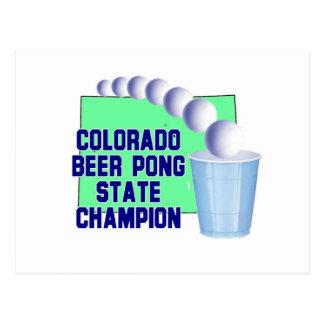 Colorado Beer Pong Champion Post Card