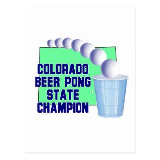 Colorado Beer Pong Champion Postcards