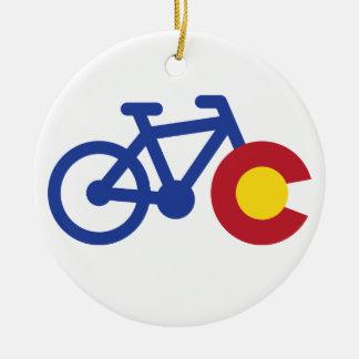 Colorado Bike Christmas Ornament