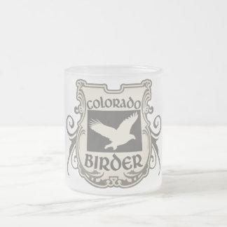 Colorado Birder Frosted Glass Mug
