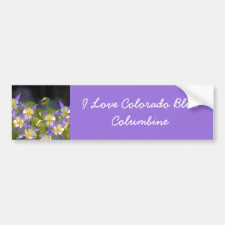 Colorado Blue Columbine Bumper Sticker