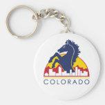Colorado Blue Horse Basic Round Button Key Ring