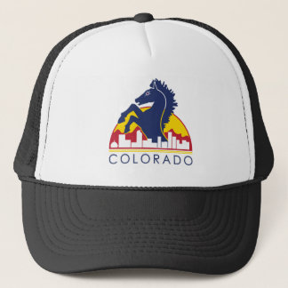 Colorado Blue Horse Trucker Hat