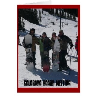 Colorado Board Meeting Note Card