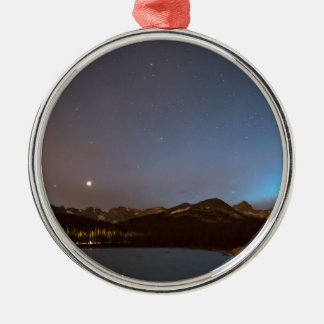 Colorado Brainard Lake Galaxy Night Silver-Colored Round Decoration