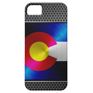 Colorado brushed metal flag iPhone 5 covers