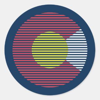 colorado c classic round sticker