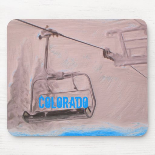 Colorado chair lift mousepad
