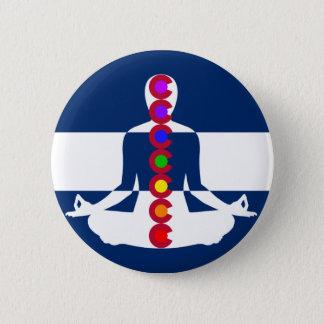 Colorado Chakra Meditation Shop 6 Cm Round Badge