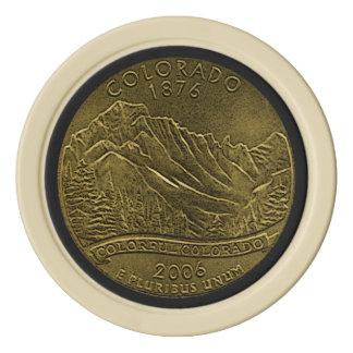 Colorado Circulated Bronze State Quarter Poker Chips Set