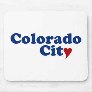 Colorado City with Heart Mouse Pad