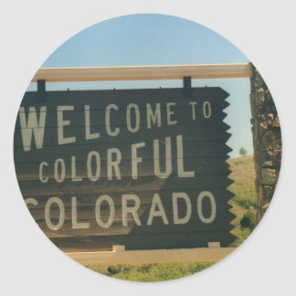 Colorado Classic Round Sticker