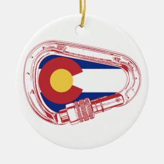 Colorado Climbing Carabiner Christmas Ornament
