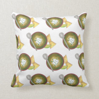 Colorado CO Style Green Pork Chili Verde Foodie Cushion