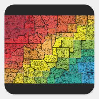 colorado color counties square sticker