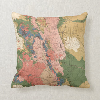 Colorado Colorful Geological Map Cushion