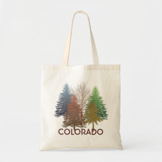 Colorado colorful trees reusable grocery bag