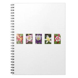Colorado Columbine Collage Notebook