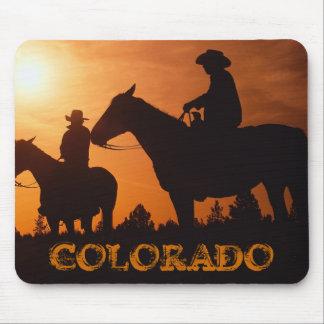 COLORADO cowboys on horses mousepad