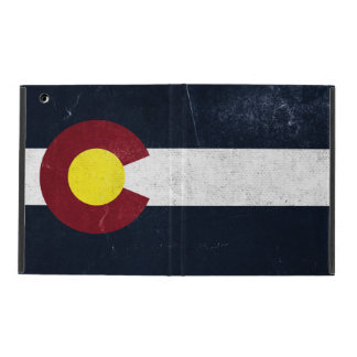 Colorado Dark Grunge Flag iPad Folio Case