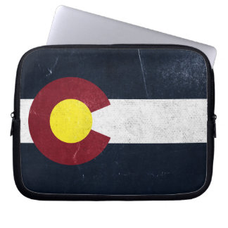 Colorado Dark Grunge Flag Laptop Sleeve
