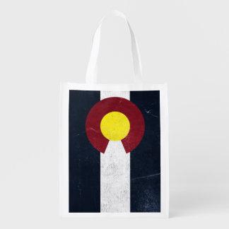 Colorado Dark Grunge Flag (One-Sided)