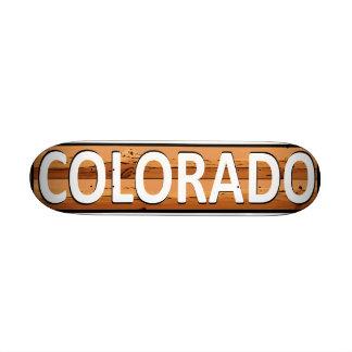 Colorado fan natural look skateboard deck