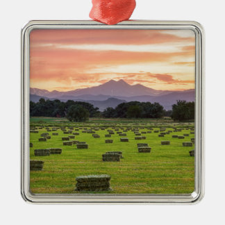 Colorado_Farmers_Burning_Sunset Christmas Ornament