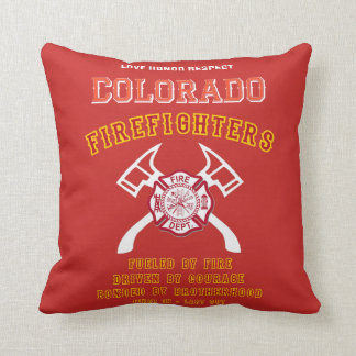 Colorado Firefighter Cushion
