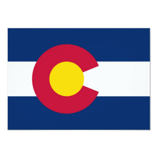 Colorado flag 13 cm x 18 cm invitation card