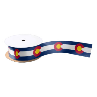Colorado flag, American state flag ribbon Satin Ribbon