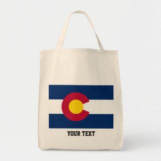 Colorado  flag, American state flag Tote Bag