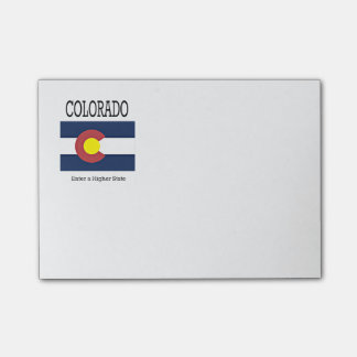 Colorado flag and slogan post-it notes
