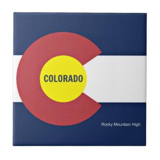 Colorado Flag and Slogan Tile