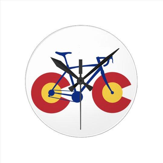 Colorado Flag Bicycle Round Clock