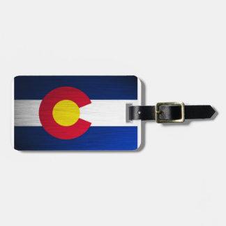 Colorado Flag Brushed Luggage Tag