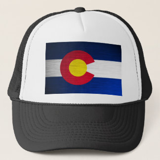 Colorado Flag Brushed Trucker Hat