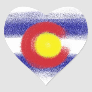 Colorado flag chalk stickers