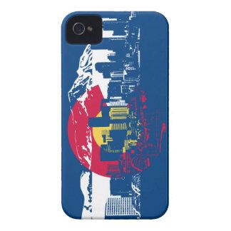 Colorado Flag - Denver Skyline - iPhone 4 Case-Mate Cases
