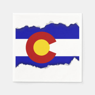 Colorado flag disposable serviette
