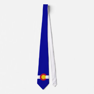 Colorado Flag full bleed blue background Tie