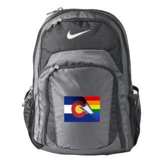 Colorado Flag Gay Pride Rainbow Backpack